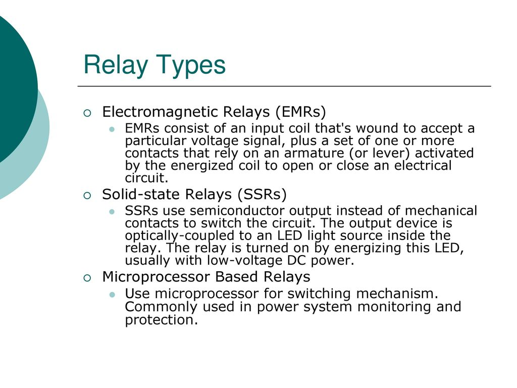 Protection And Relay Schemes Ppt Video Online Download Power Explained 5 Types Electromagnetic