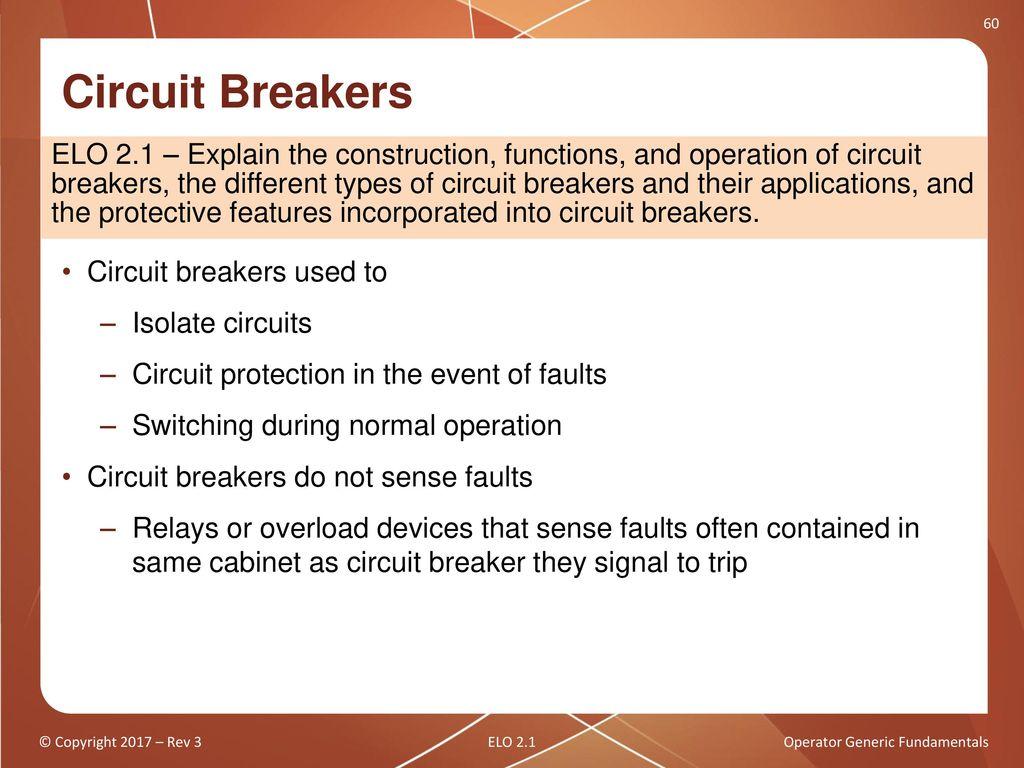 Operator Generic Fundamentals Ppt Download Electrical Overloads Can Make A Circuit Breaker Trip Leaving You In 58