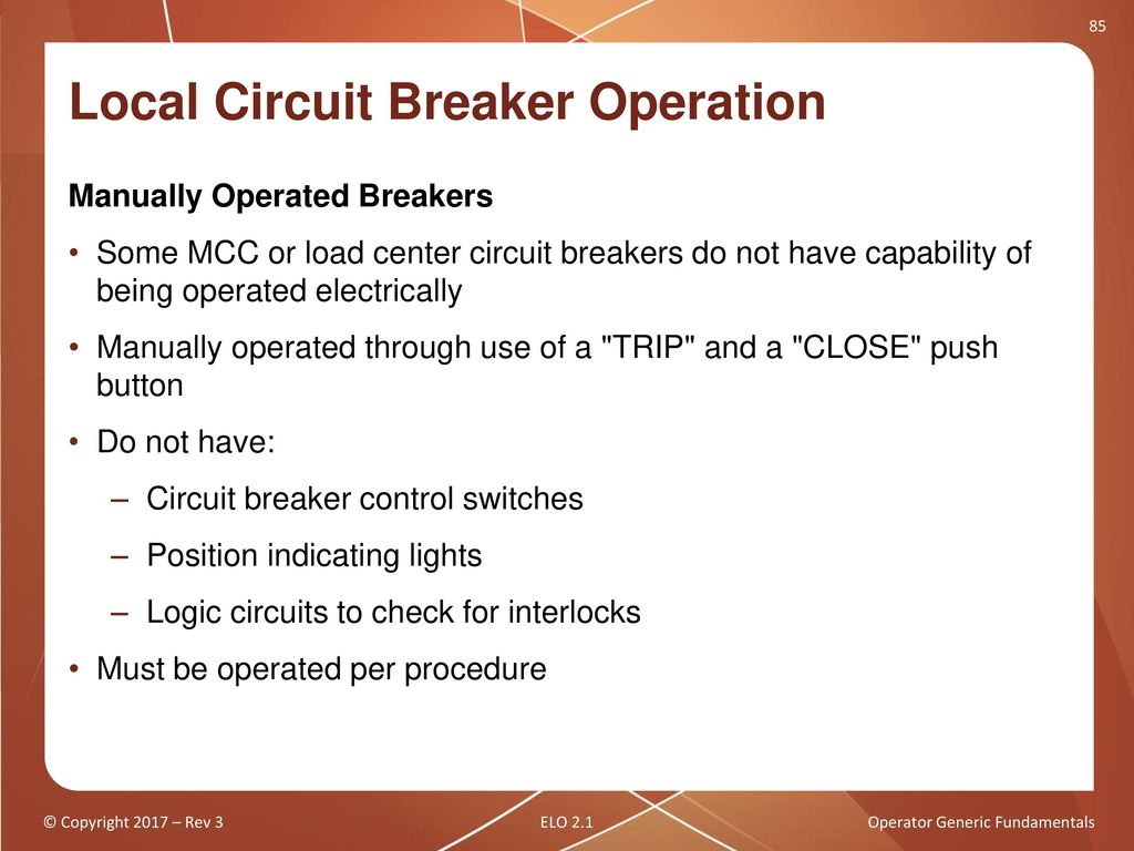 Operator Generic Fundamentals Ppt Download Circuit Breakers In The Off Position Without Locking Out An Entire Local Breaker Operation