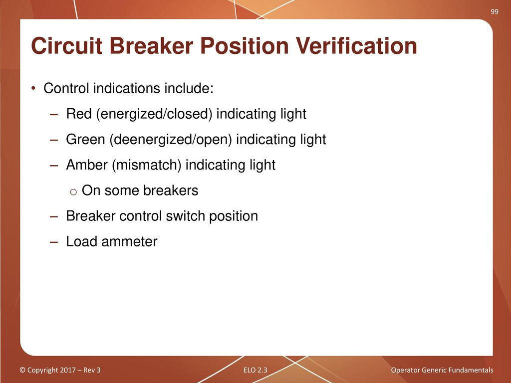 Operator Generic Fundamentals Ppt Download Circuit Breakers In The Off Position Without Locking Out An Entire Racking