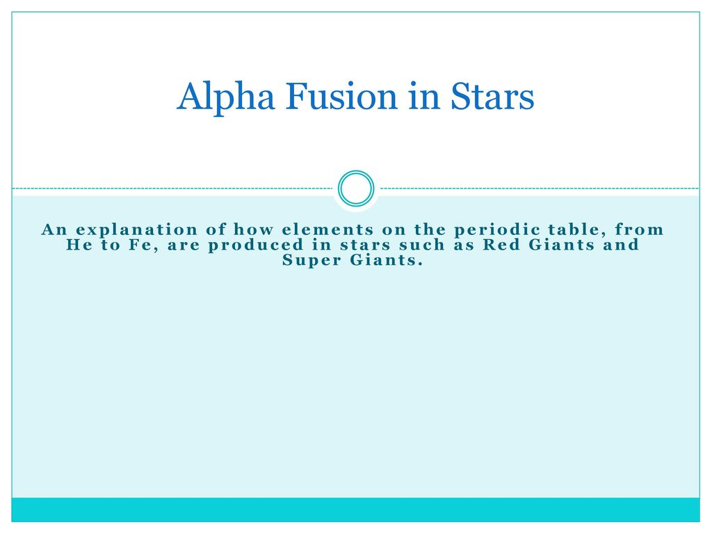 Alpha fusion in stars an explanation of how elements on the periodic alpha fusion in stars an explanation of how elements on the periodic table from he urtaz Image collections
