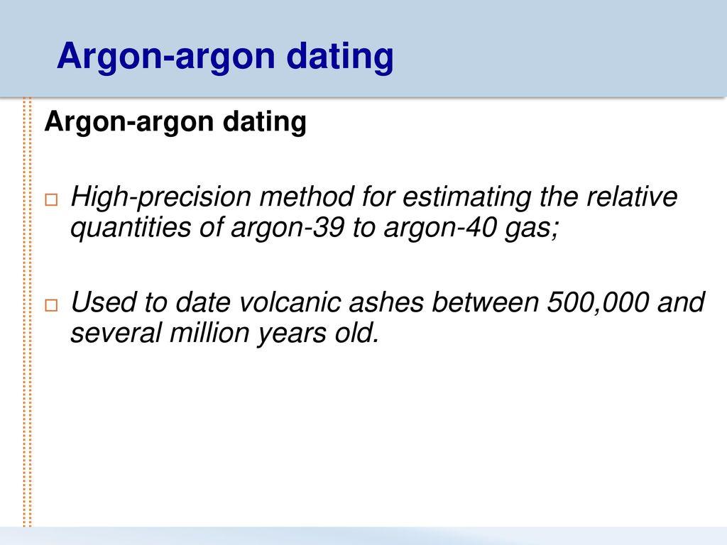 Argon 39 argon 40 Dating Wie man weiß, wenn man den falschen Kerl neu datiert
