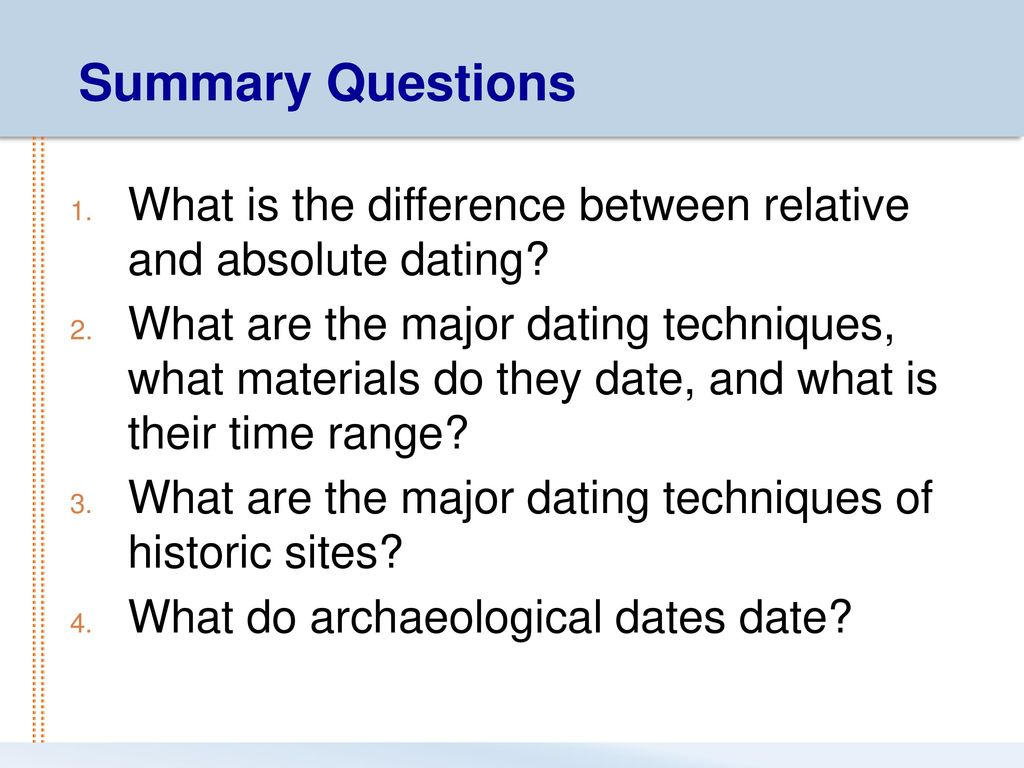 combined use relative and absolute dating techniques
