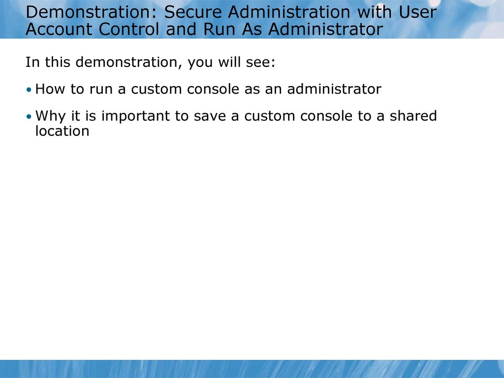Module 1: Introducing Active Directory® Domain Services
