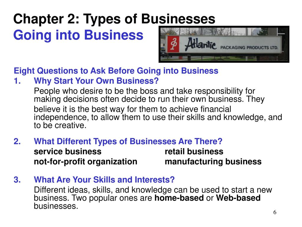 Chapter 2: Types of Businesses Forms of Business Ownership - ppt ...