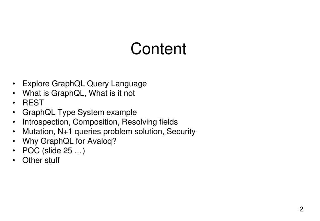 Exploring GraphQL / Solution Outline - ppt download