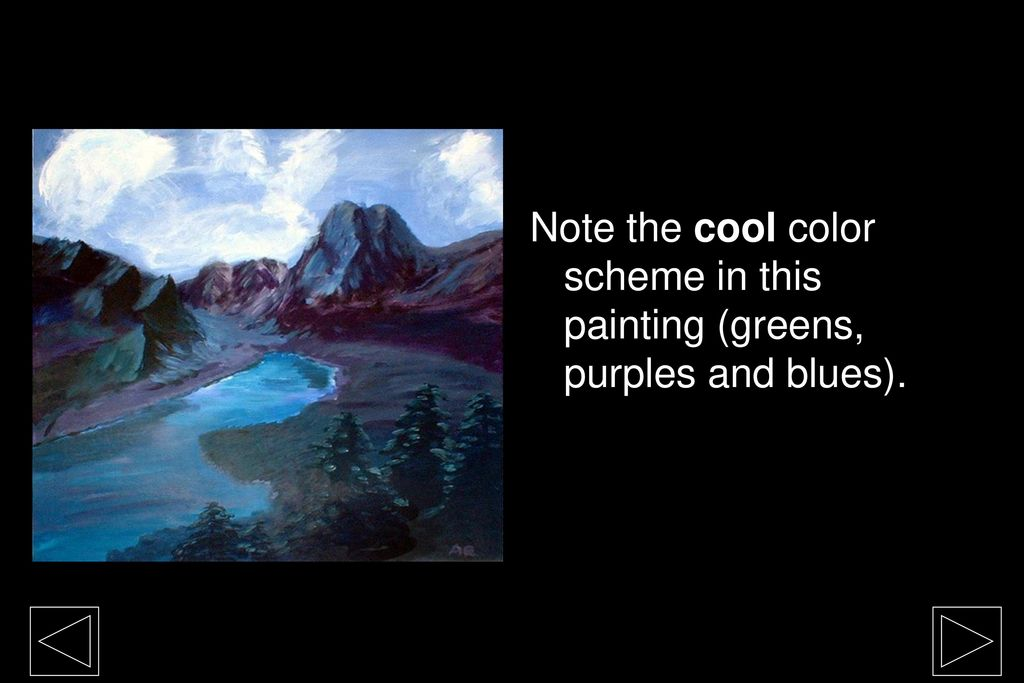 22 Note The Cool Color Scheme In This Painting Greens Purples And Blues