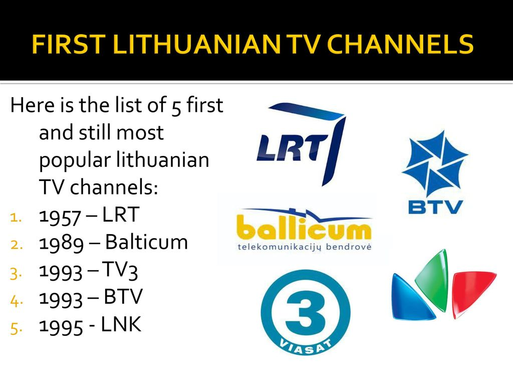 LITHUANIAN TELEVISION - ppt download