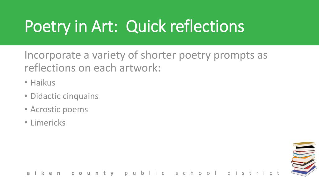poetry prompts for high school