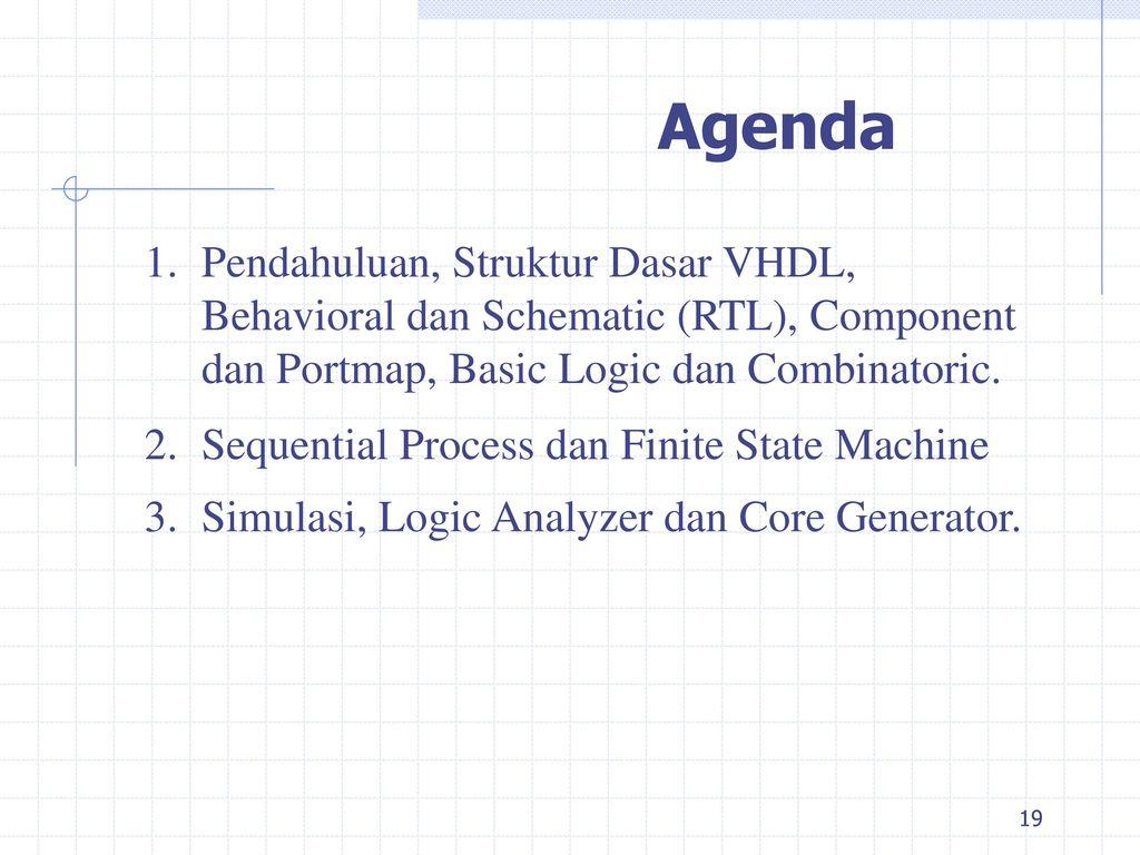 Programmable Logic Devices Ppt Download Gate Circuit Analyzer Dan Core Generator Agenda Pendahuluan Struktur Dasar Vhdl Behavioral Schematic Rtl Component
