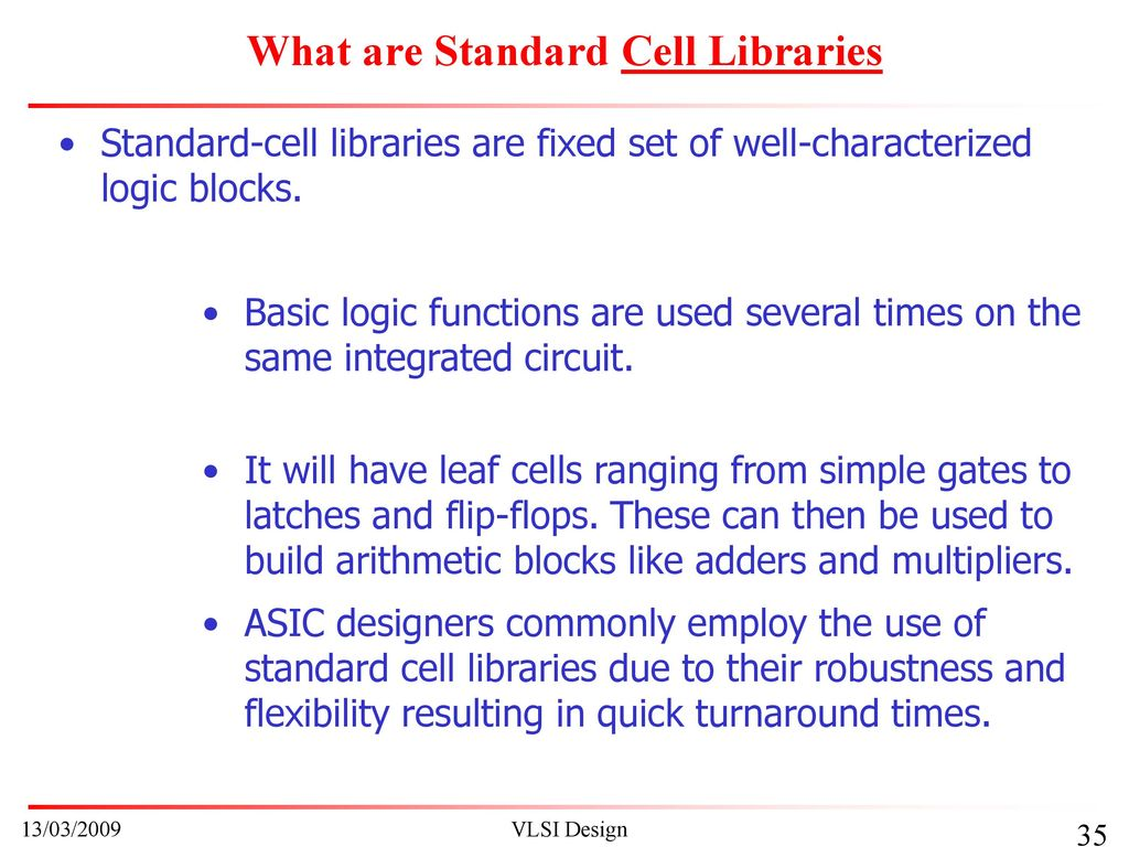 Unit Vi Semiconductor Integrated Circuit Design Ppt Download Uses Of What Are Standard Cell Libraries