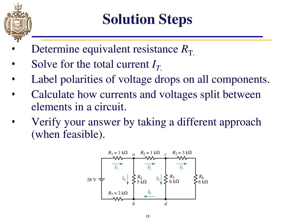 Lesson 6 Series Parallel Dc Circuits Ppt Video Online Download Part 5 Solving For Current Voltage And 18 Solution