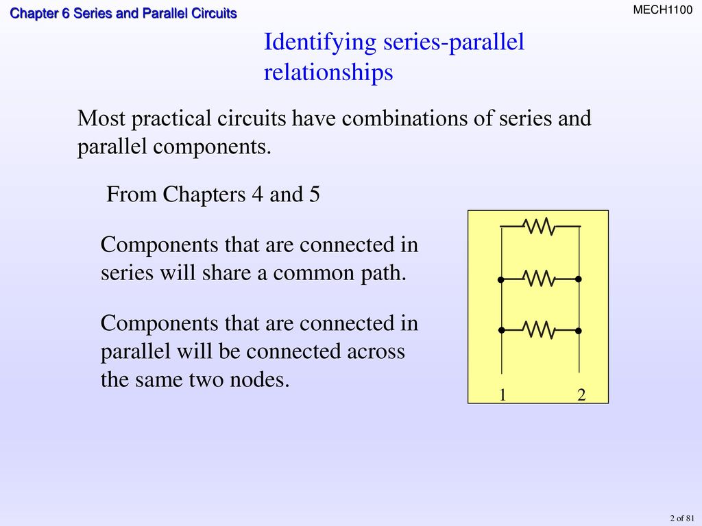 Topics Identifying Series Parallel Relationships Ppt Download Circuit 5 3 Combination Circuits