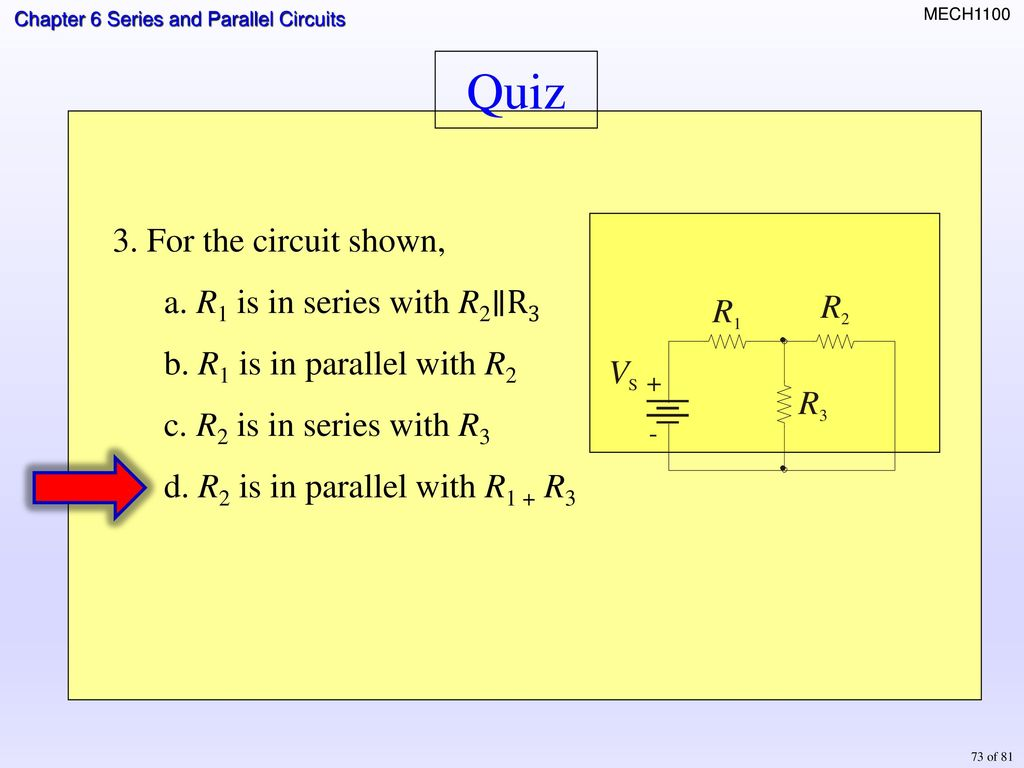 Topics Identifying Series Parallel Relationships Ppt Download Electronic Circuit Design Quiz 61 Maximum Power Transfer Theorem