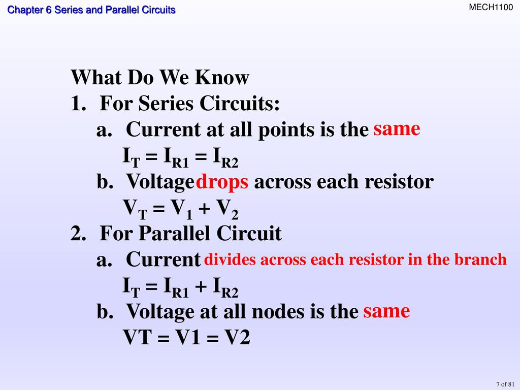 Topics Identifying Series Parallel Relationships Ppt Download Voltage In And Circuits 7 Current