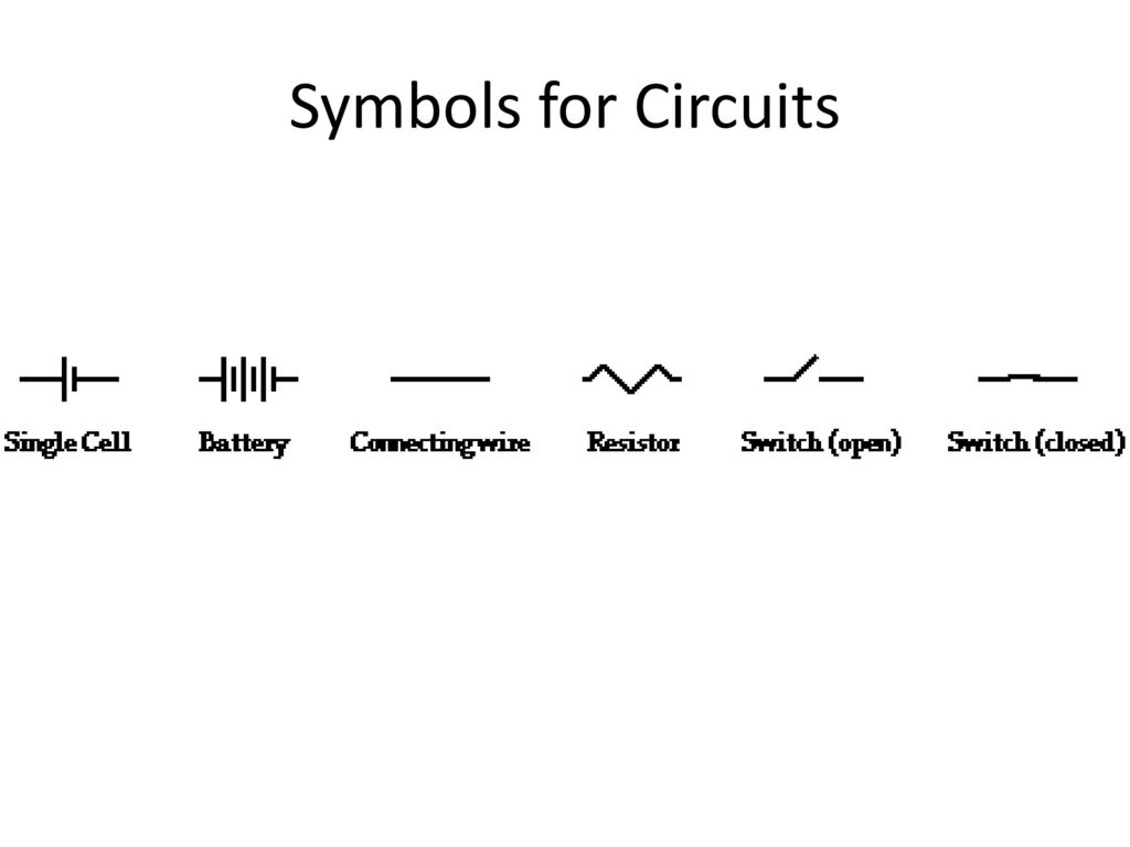 Symbols for Circuits. - ppt download