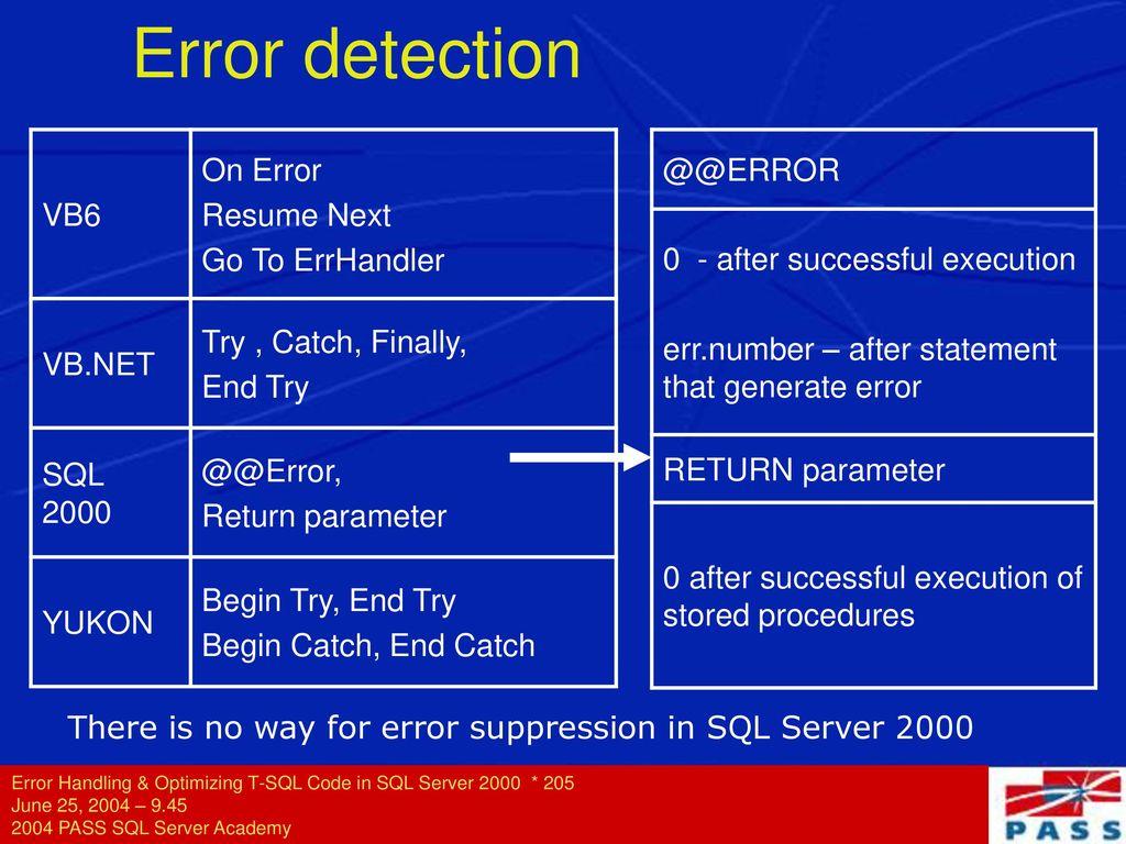 Sql resume next error homework completion statistics
