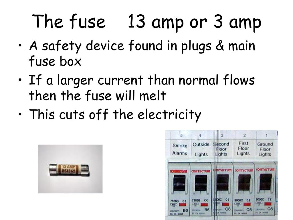 S3 Physics Exam Revision Ppt Download Main Fuse Box The 13 Amp Or 3 A Safety Device Found In Plugs