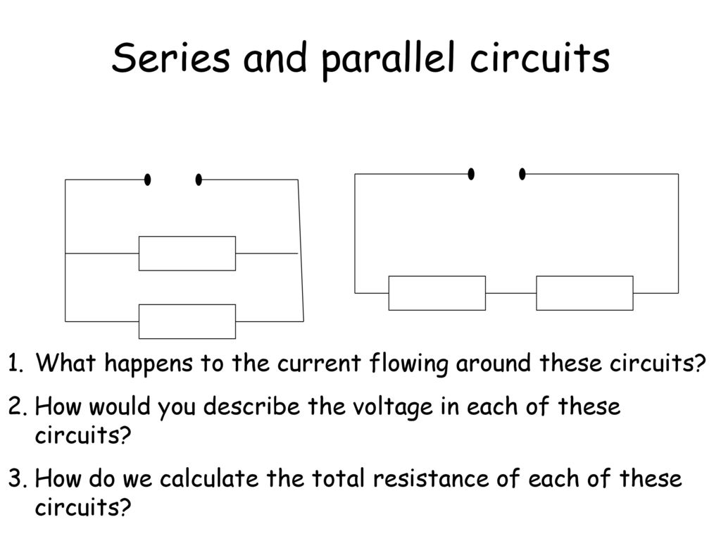 S3 Physics Exam Revision Ppt Download Parallel Circuit Diagram Calculate The Total Series And Circuits