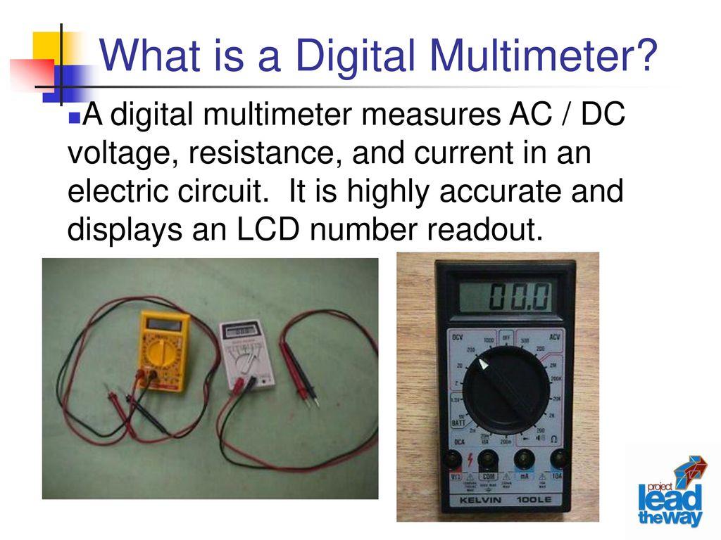 Digital Multimeter Ppt Download Voltmeter Circuit What Is A