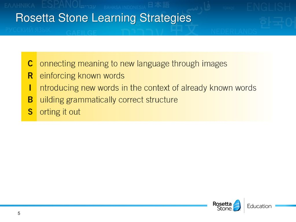 Rosetta Stone Implementation Ppt Download