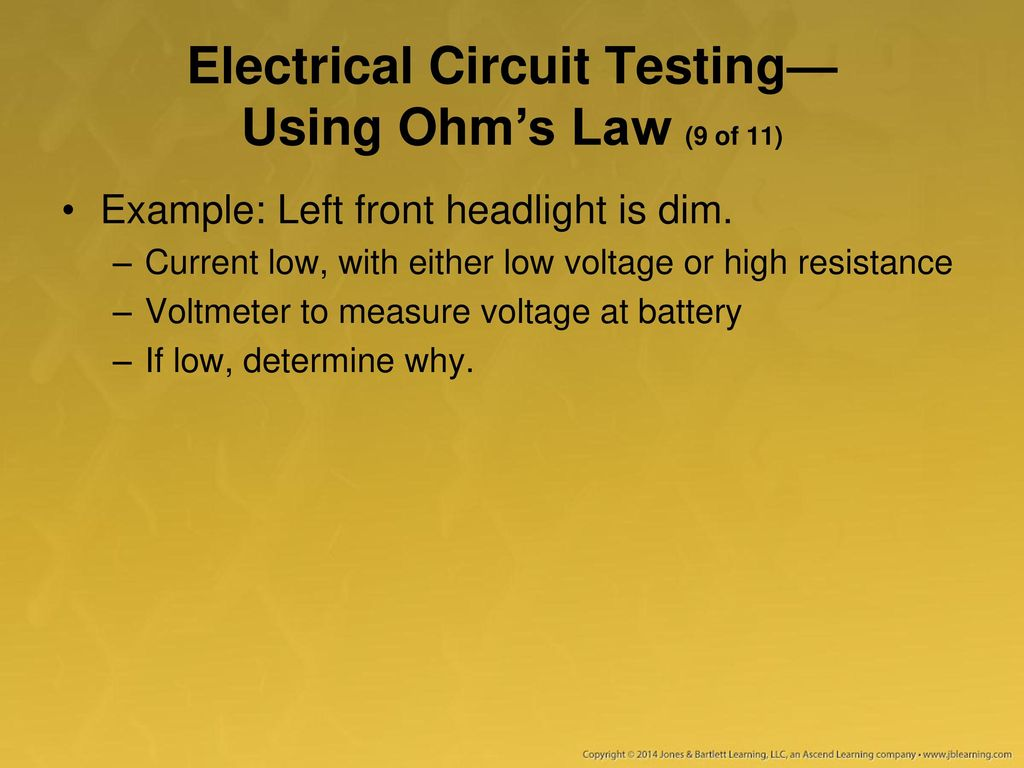 Using A Multimeter Test Light And Other Equipment Ppt Download Series Parallel Circuit Examples How To Use Electrical Testing Ohms Law 9 Of 11