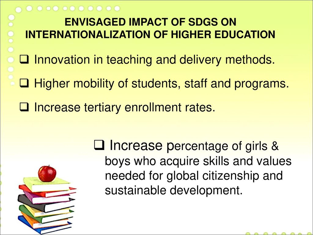 Women's access to higher education: Impact on MDGs and