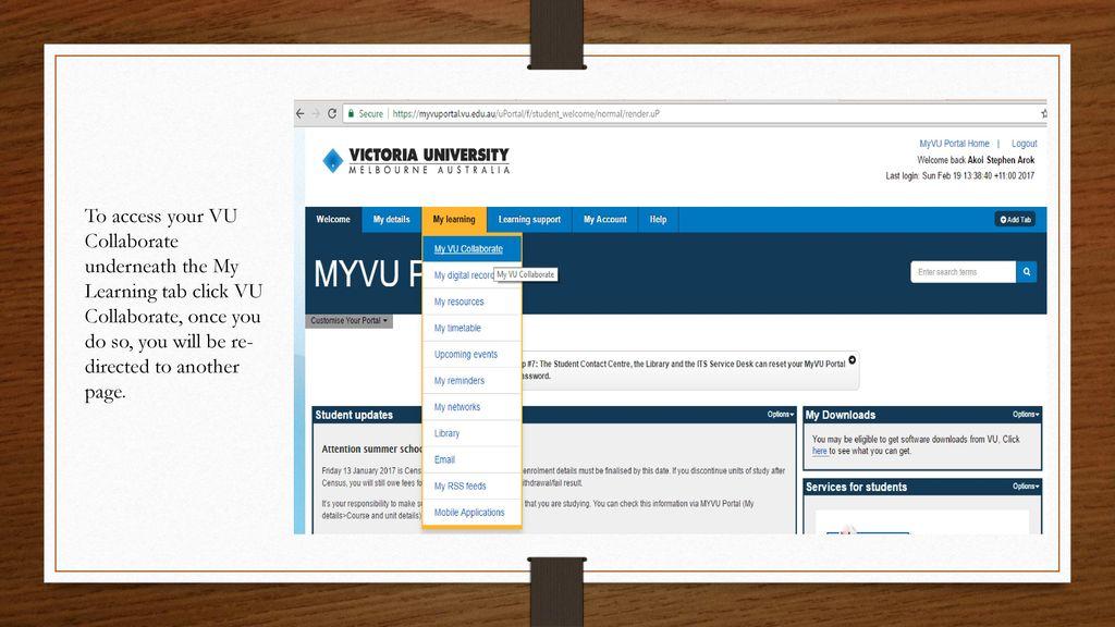 MYVU Portal & VU Collaborate - ppt download