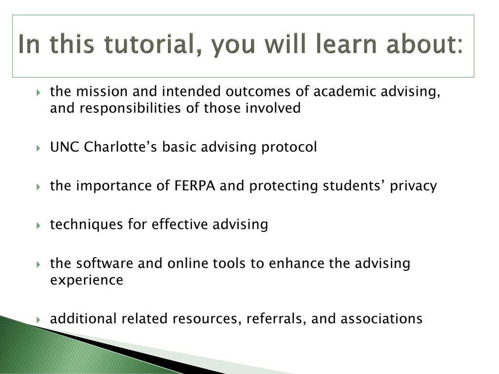 ferpa form uncc  Undergraduate Advising ppt download