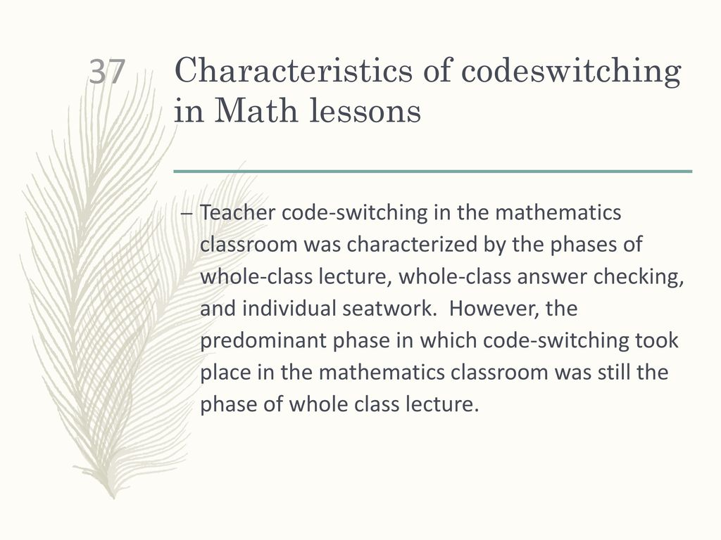 a case study of the code switching patterns english language essay For code switching and code choice a case study of an international baccalaureate diploma program by cambridge an analysis on code-switching in fortress besieged from the perspective of register theory by wang, meihua english language teaching, vol 8, no 1, january 2015.