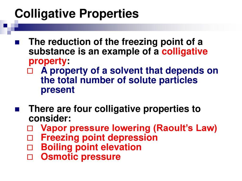 Colligative Properties Ppt Download
