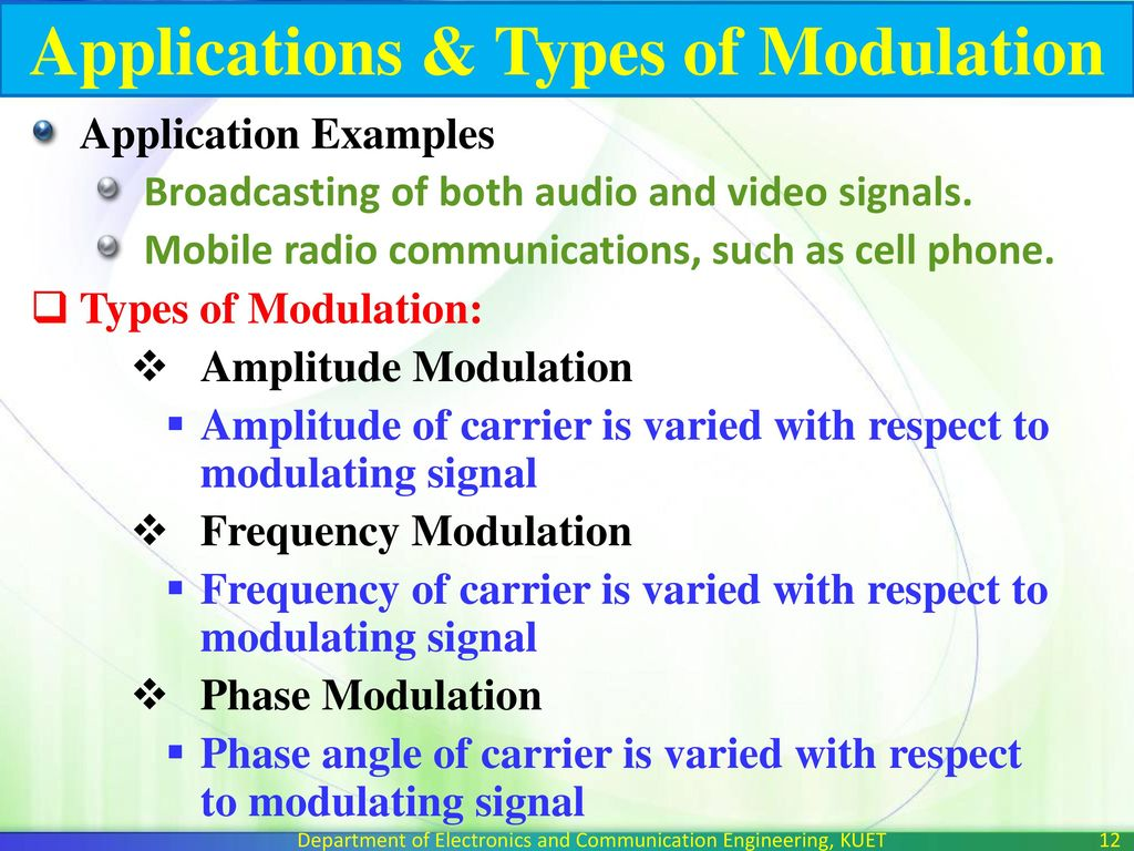 Introduction & Amplitude Modulation - ppt download