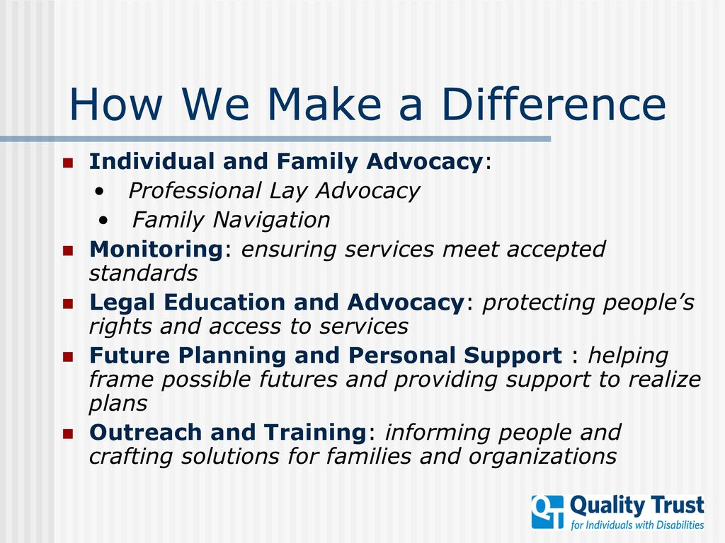 Quality Trust for Individuals with Disabilities - ppt download