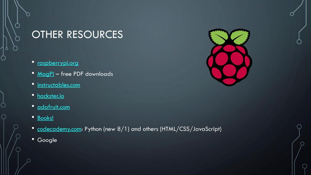 Another slice of pi Hands-ON with the raspberry pi computer - ppt