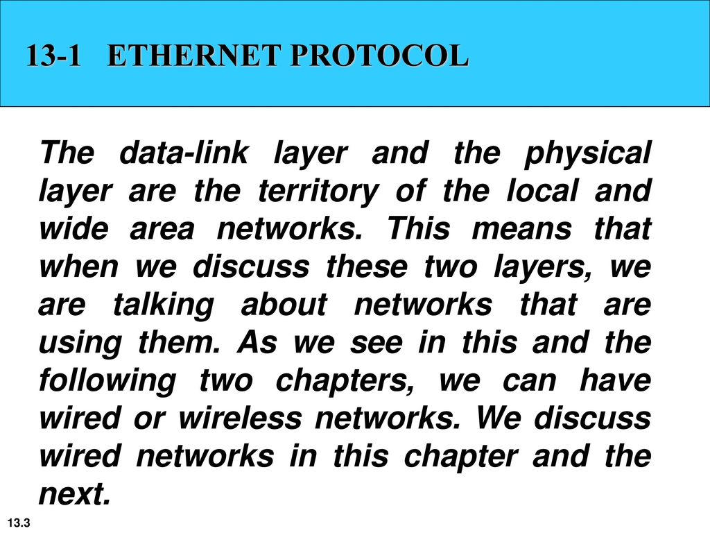 Chapter 13 Wired LANs: Ethernet - ppt download