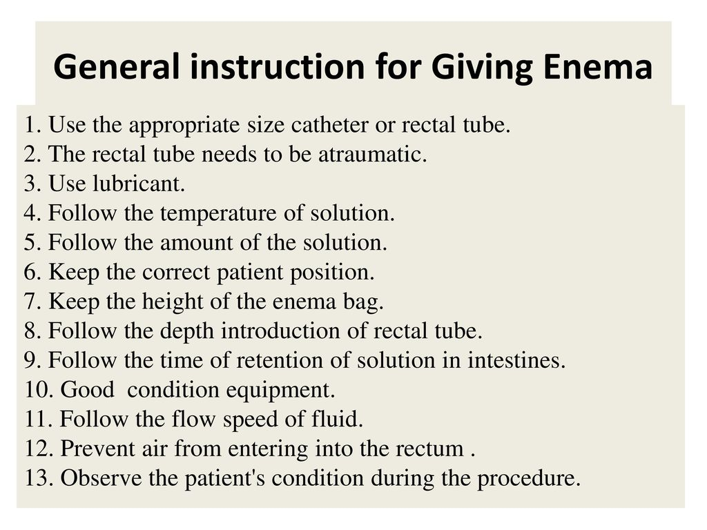 Giving Enema To Elderly