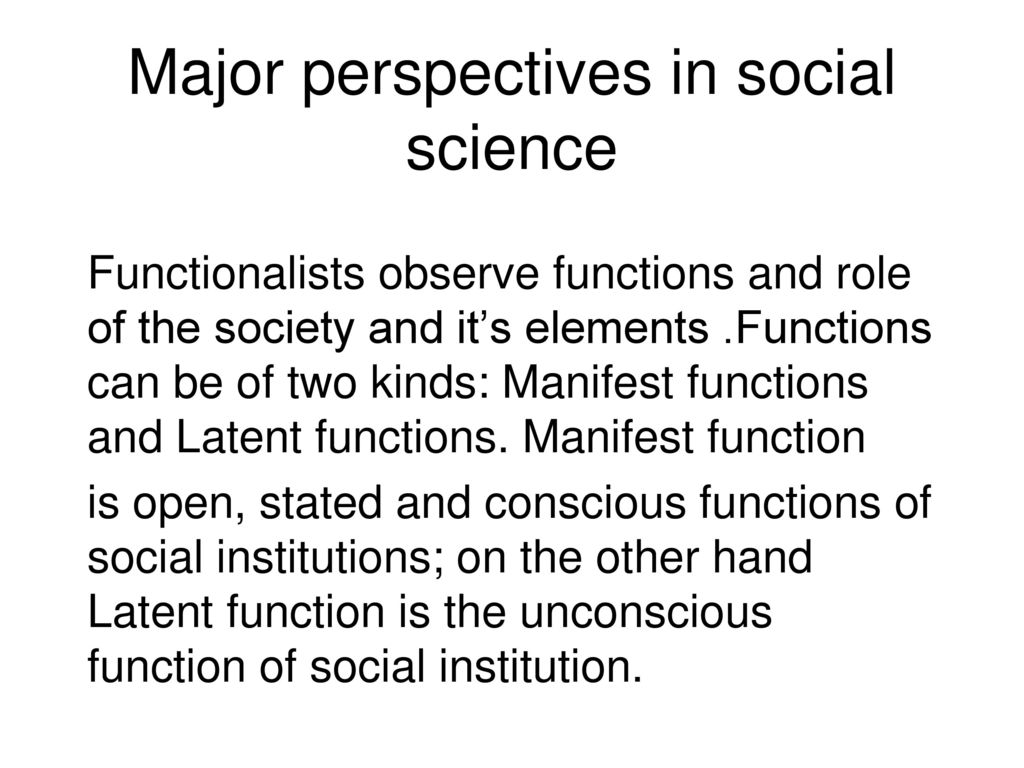functions of social institutions