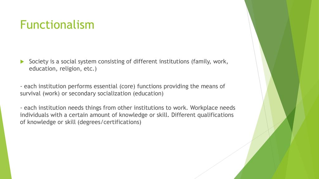 education as a social system