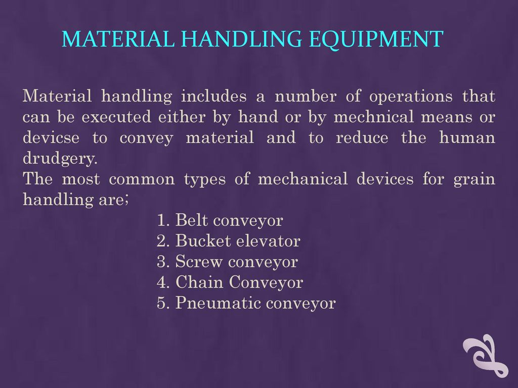 Types Of Material Handling Equipment Ppt Download