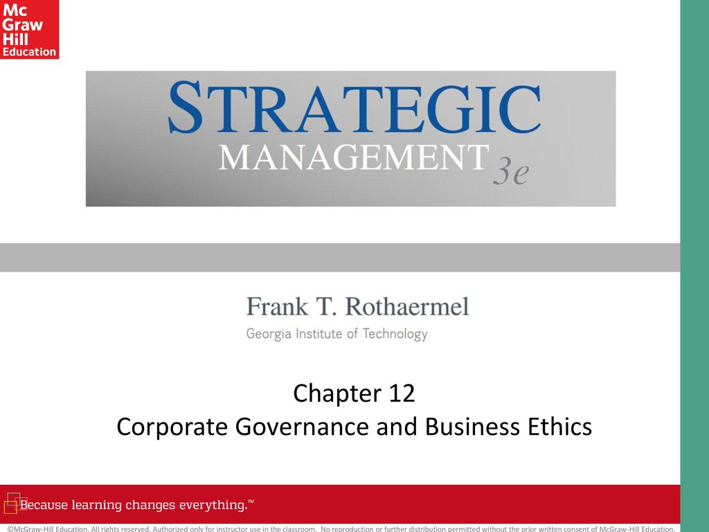 business ethics and corporate governance in We define business ethics as the application of a moral code of conduct to the strategic and operational management of a business read on for more definitions.