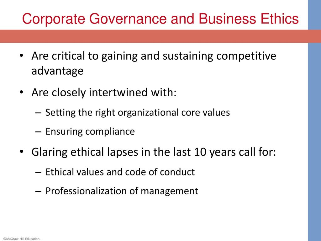 business leadership ethical values and corporate 2013-5-22 al (2010), ethical leadership sends a strong signal that an individual is potentially suitable for the pressures of senior management because of his or her ability to maintain strong ethical performance in the face of such pressure.