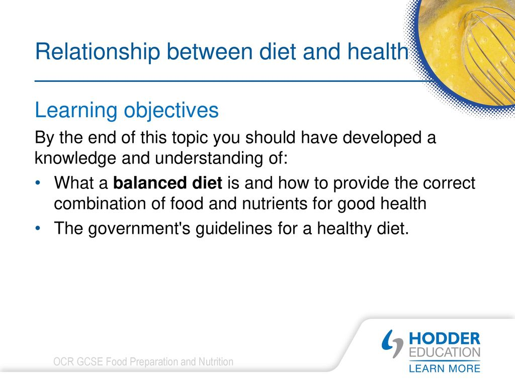 the relationship between diet and health