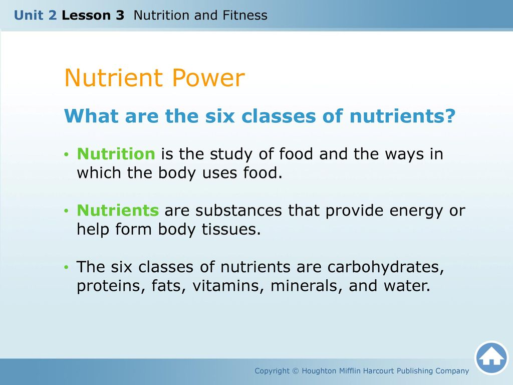2 Nutrient Power What Are The Six Cl Es