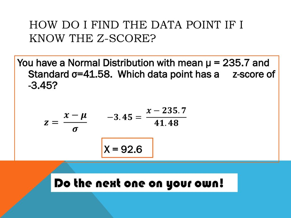 Normal Distribution and Z-scores - ppt download With Z Score Practice Worksheet
