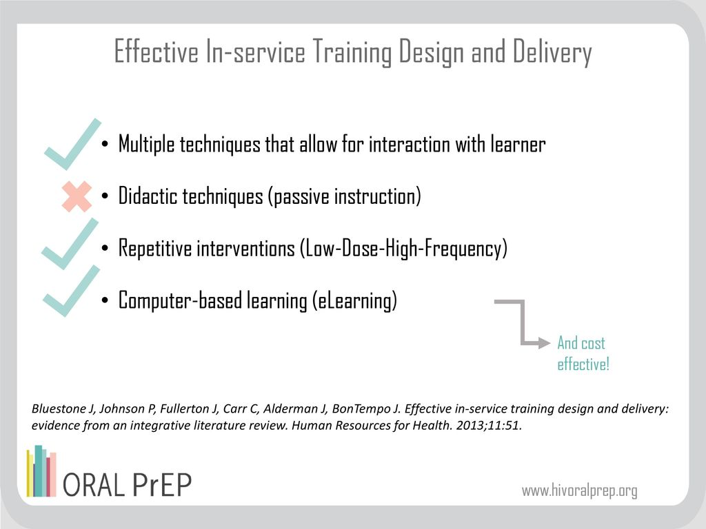 Effective In-service Training Design and Delivery