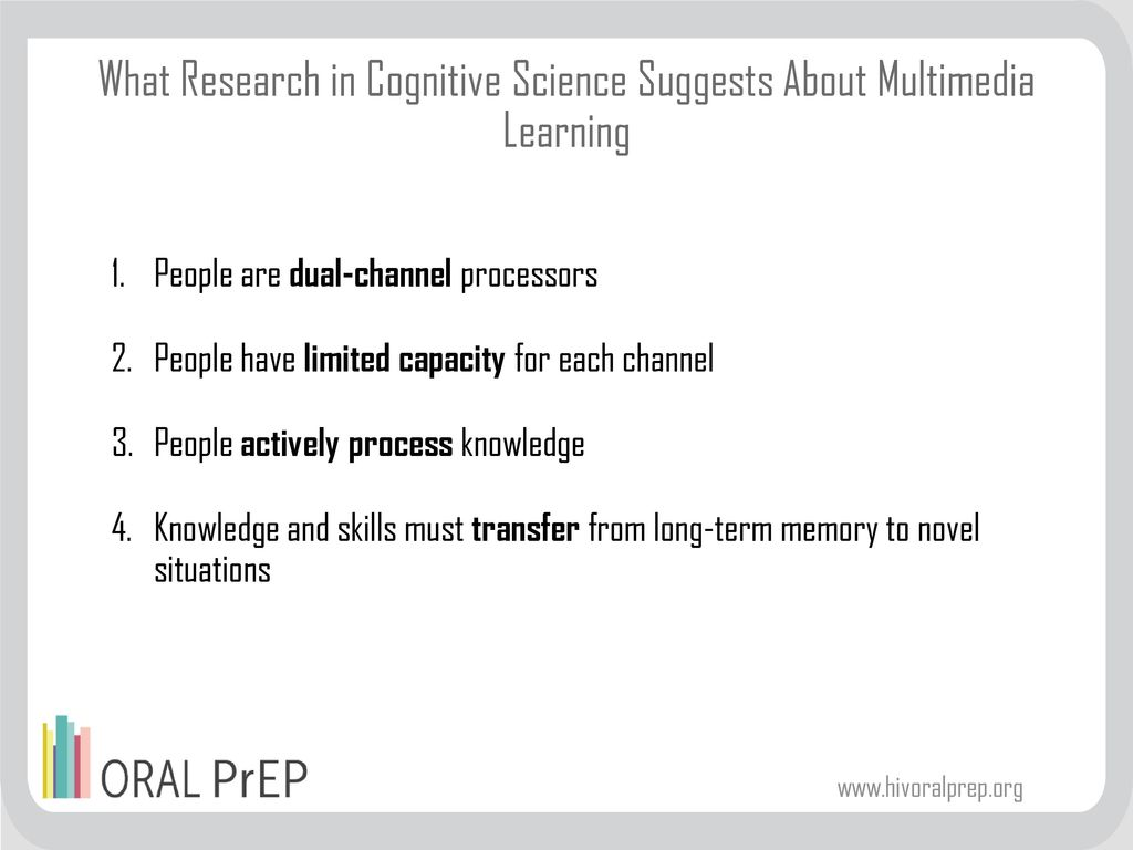 What Research in Cognitive Science Suggests About Multimedia Learning