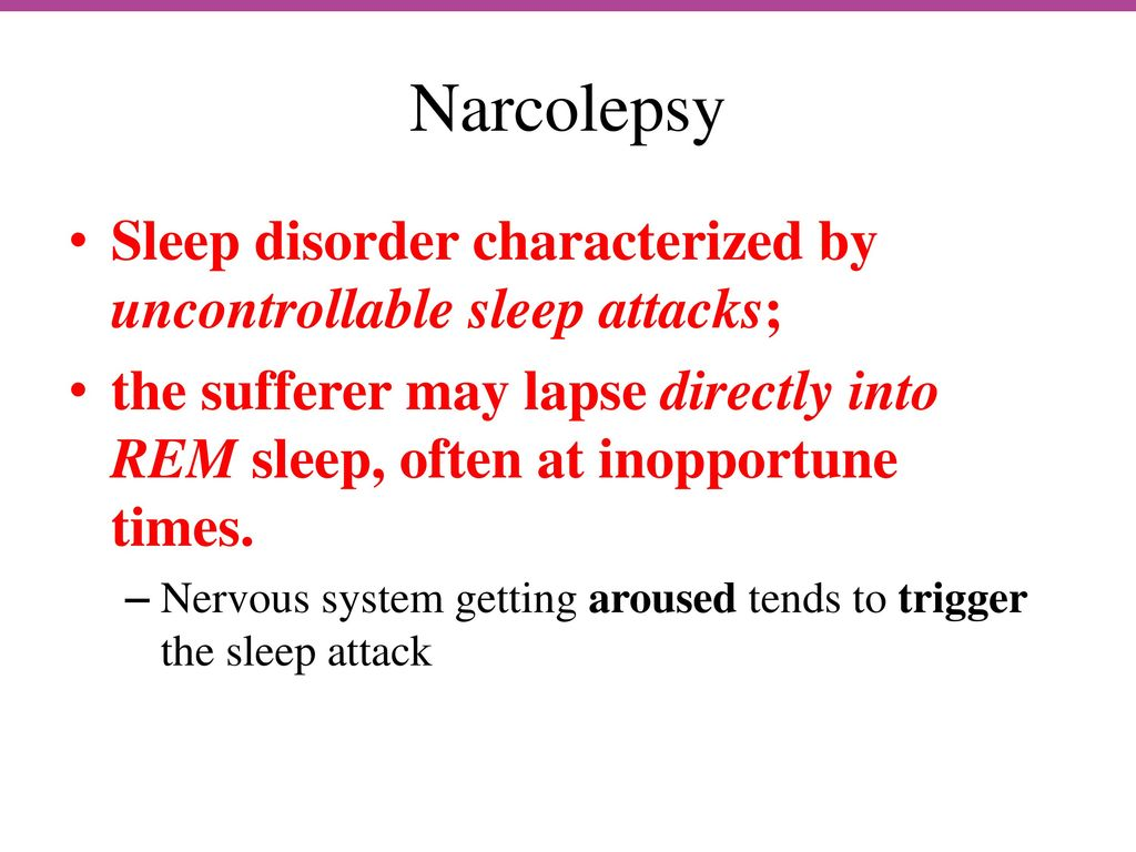 Sleeping Disorders List
