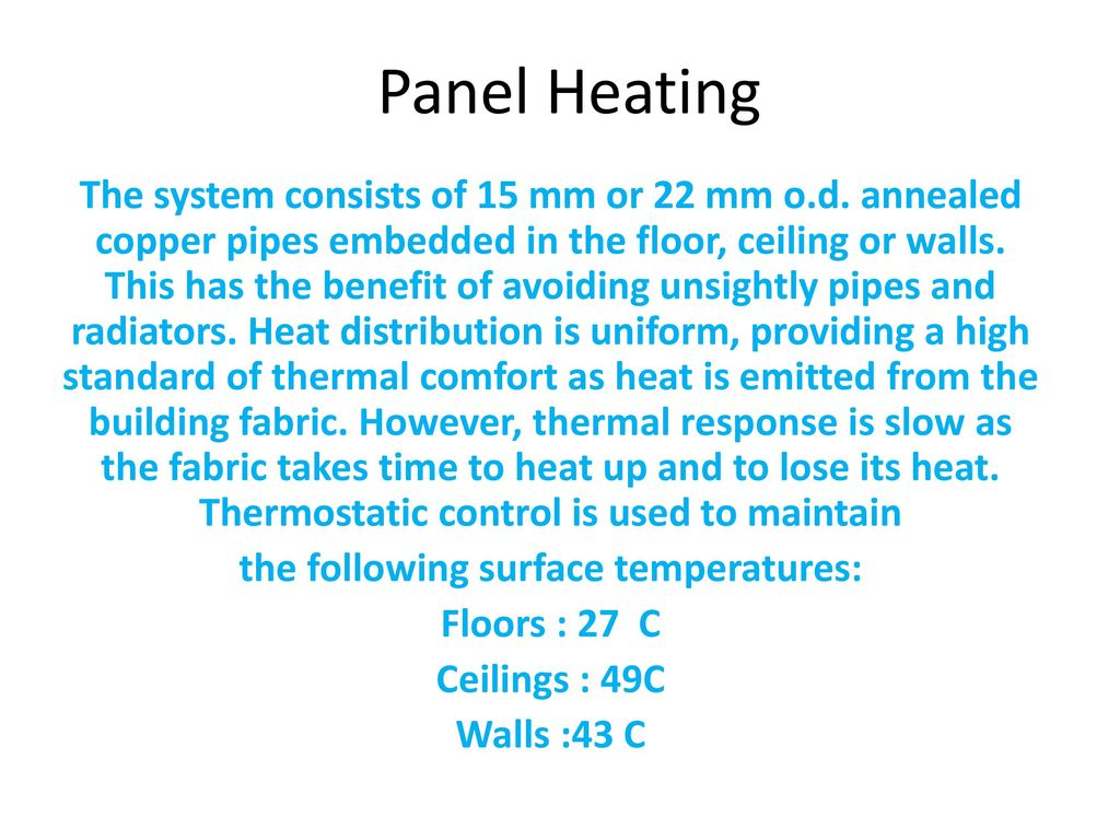 Ch.4 HEATING SYSTEMS Heat Emitters – 1 - ppt download