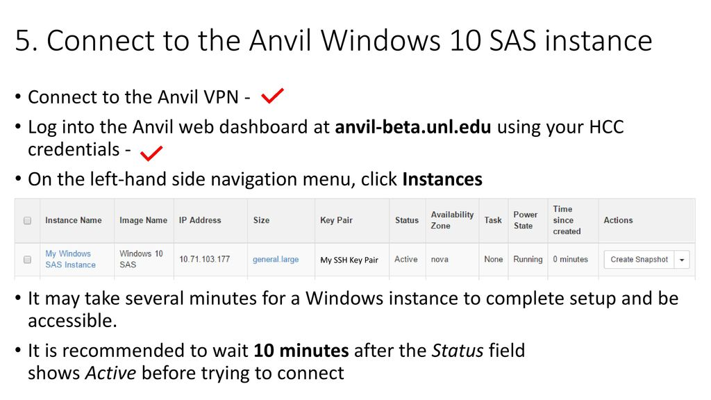 Holland Computing Center STAT802 Create and access Anvil Windows 10