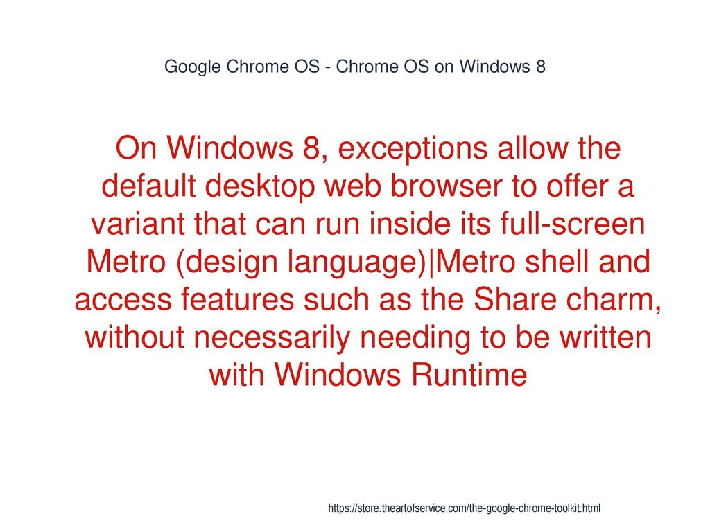 Google Chrome - ppt download